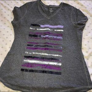 Tek Gear Dri-Fit Purple Striped Shirt